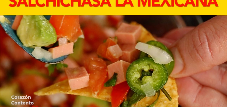 Salchichas A La Mexicana Botana Corazón Contento Con Ley